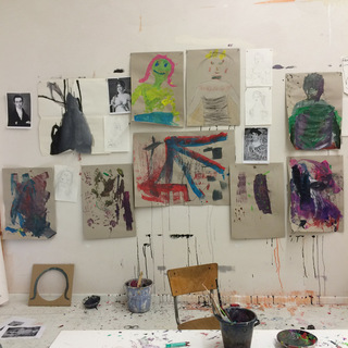 TUESDAY 11/03/15 Art session in the studio with the kids today, exploring portraits
